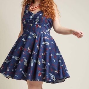 ModCloth fit and flare nutcracker dress 1X.
